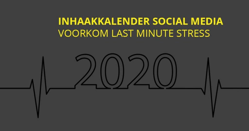 Inhaakkalender 2020 social media