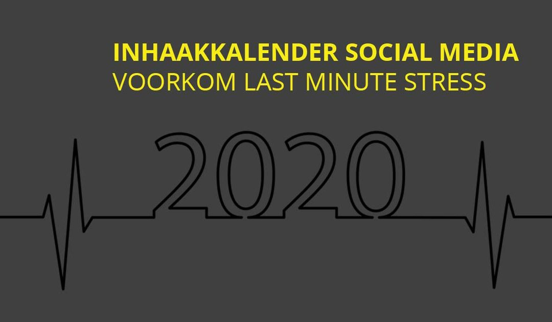 Inhaakkalender 2020 social media